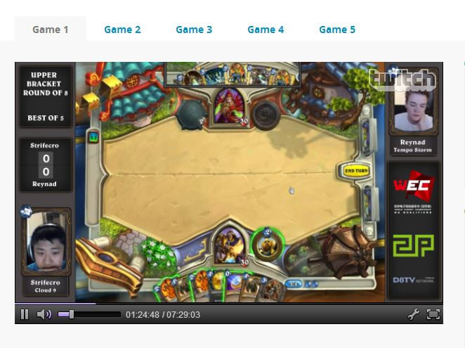 Twitch Reynad vs StrifeCro hosted by HSDREAM.TV