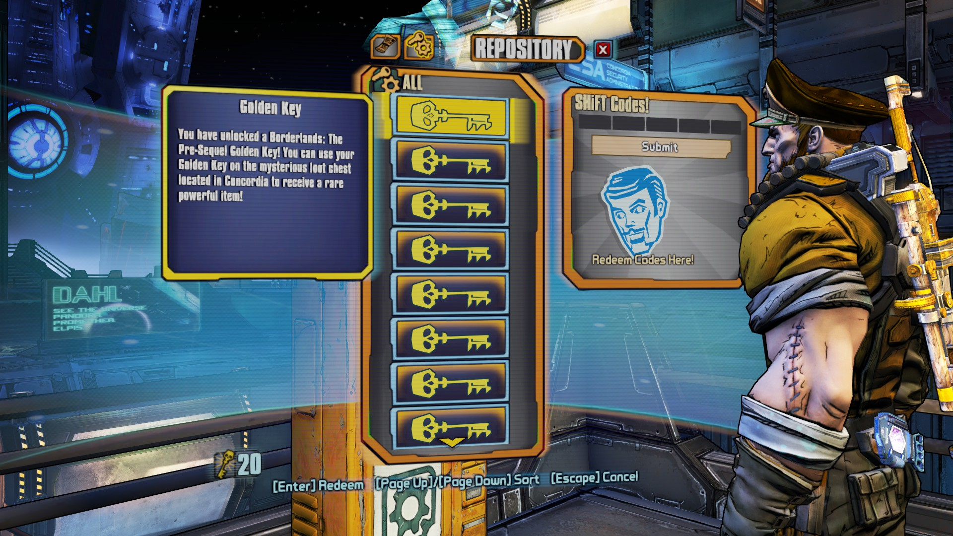 Golden Key Shift Codes Borderlands Pre Sequel ... Borderlands The Pre Sequel Shift Codes