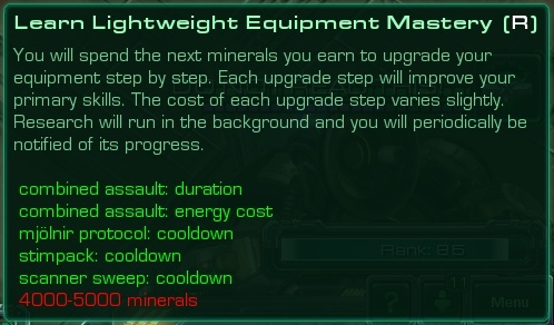 Lightweight Equipment Mastery without the Mastery point cost (Anvil)