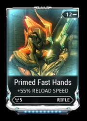 Warframe Primed Fast Hands